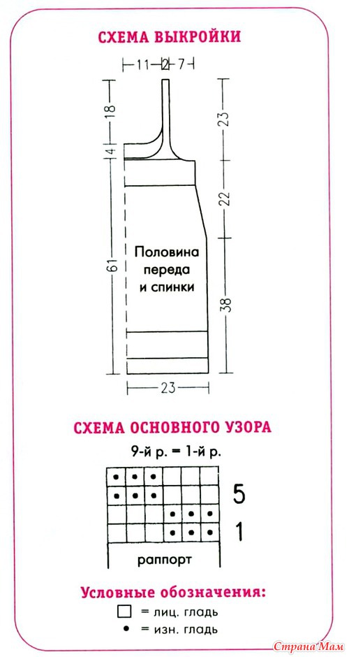 Вязание рисунок кирпичики 88