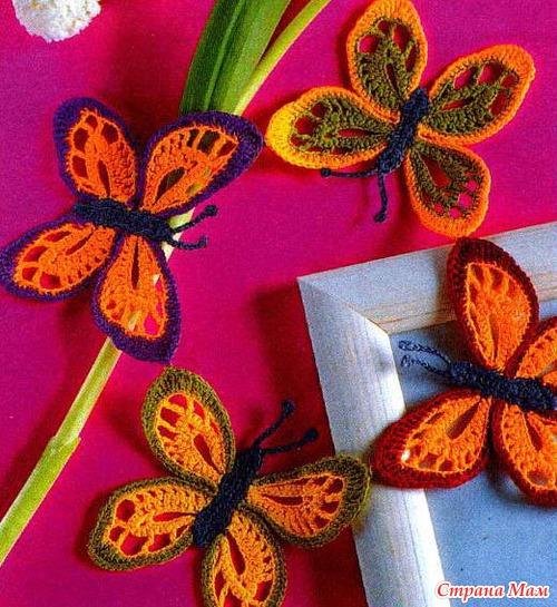 Бабочки и стрекозы - схемы
