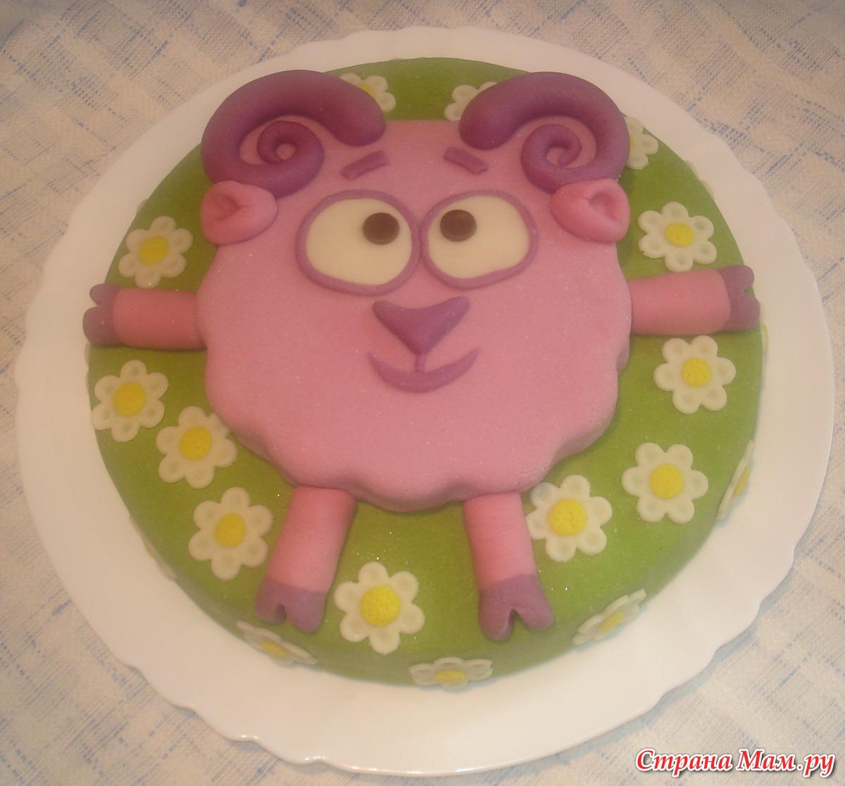 Торт смешарики нюша своими руками
