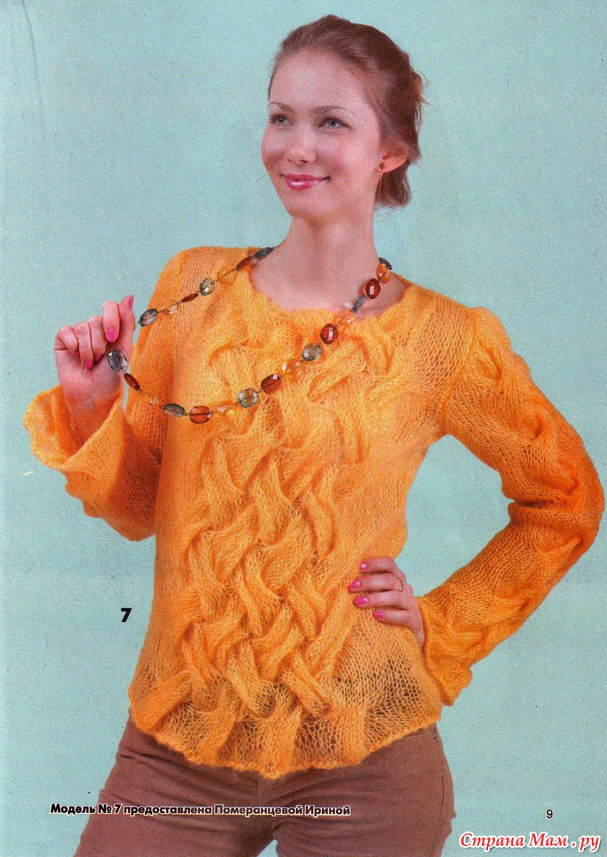 Вязание из кид мохера разных цветов