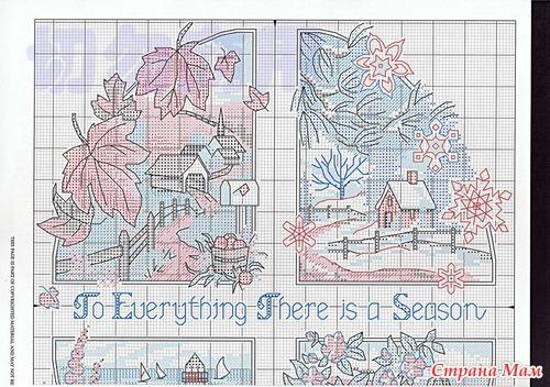 Вышивка схема четыре сезона