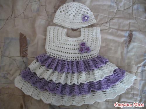 вязание крючком детские платья видео бесплатно