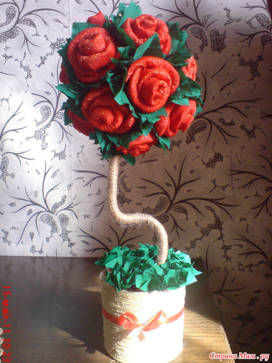 Топиарий розы пошагово