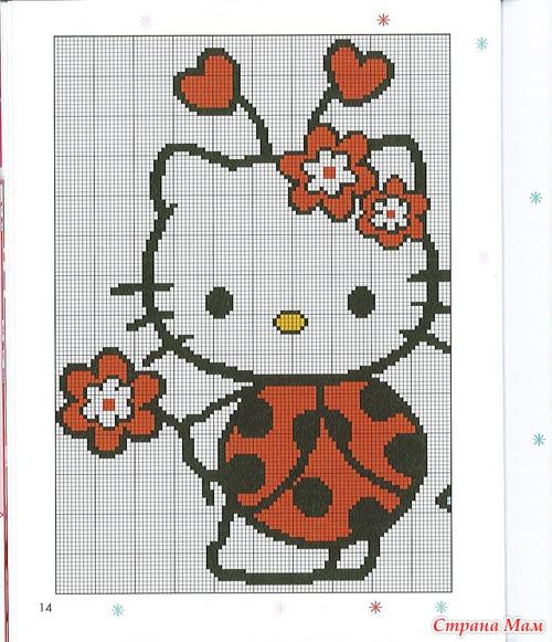 My Hello Kitty au point de croix (вышивка) - Клуб рукоделия - Страна Мам