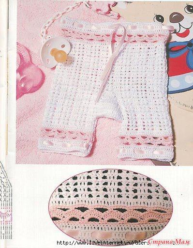 Штанишки для малышки (крючок)