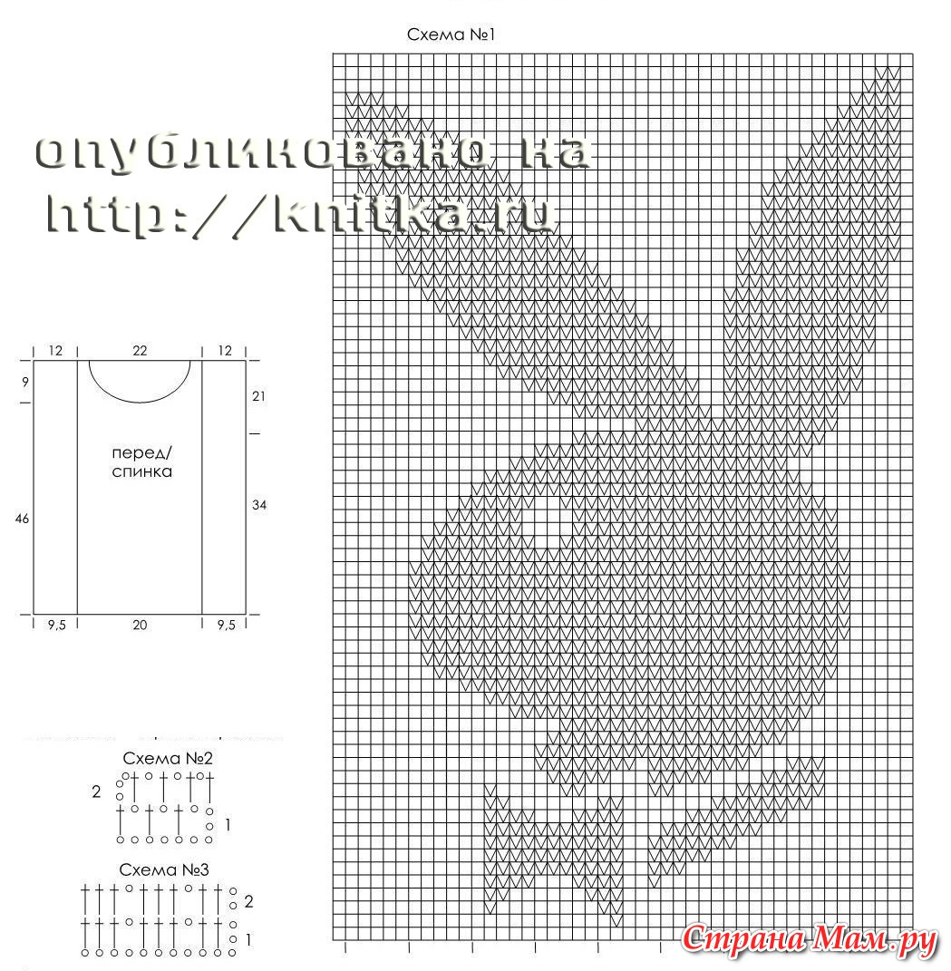 Схемы картинок для вязания спицами с описанием для детей