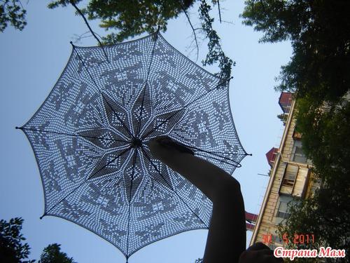 Вот сваяла очередной зонтик.