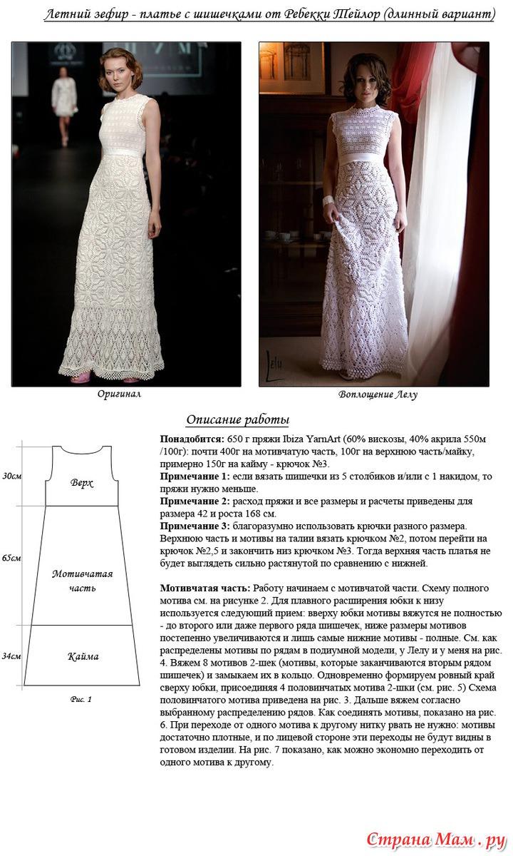 Модели вязанных платьев i