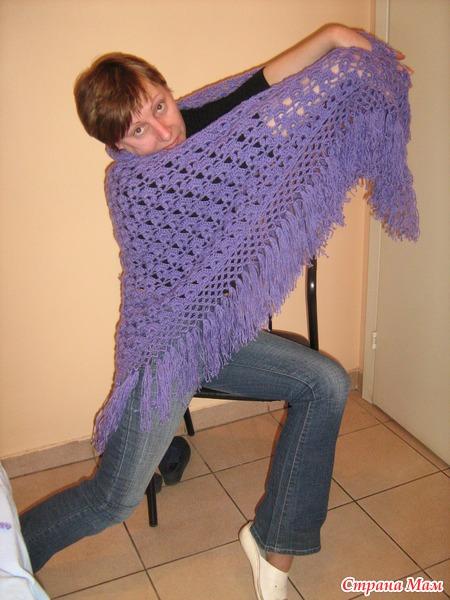 вязание шалей крючком для начинающих страна мам