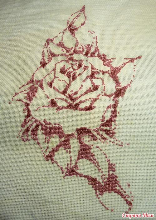 Розы монохром вышивка крестом
