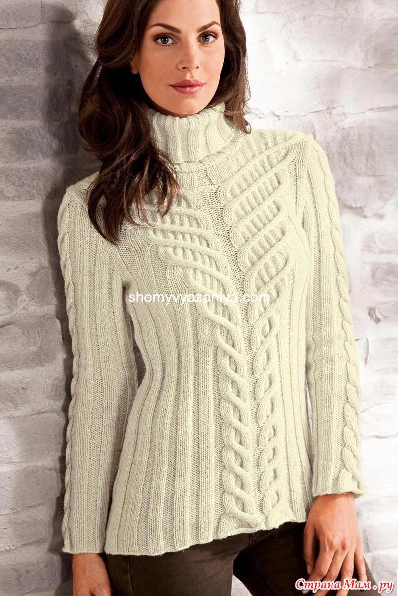 схема вязанного женского свитера