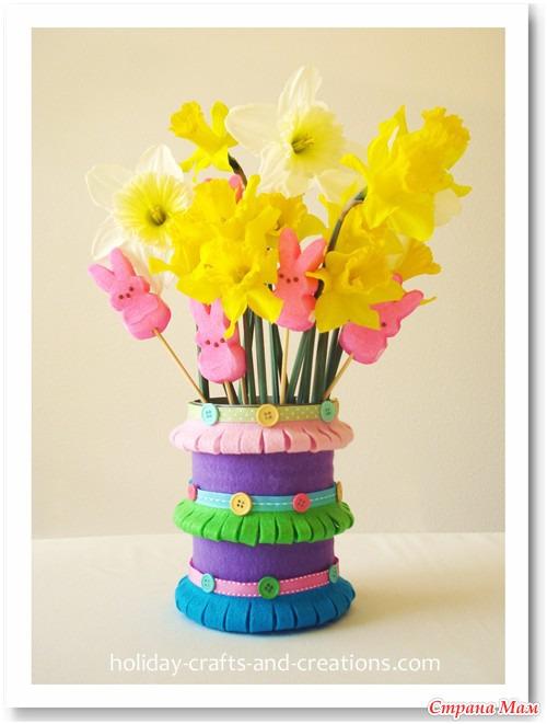 Поделки своими руками цветы в вазе фото