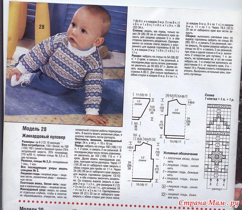 Вязание свитера на 1 год