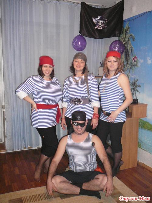 Костюм пиратки своими руками из тельняшки фото