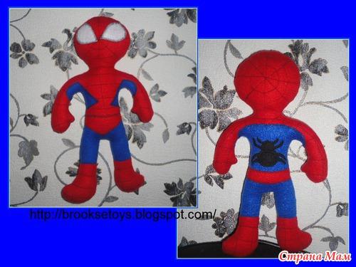 Выкройка игрушки человека паука своими руками