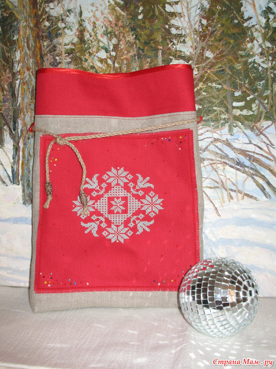 Как сшить мешок деда мороза для подарков