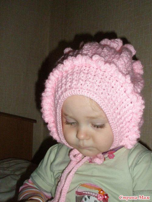 Зимняя шапка Зефир крючком.