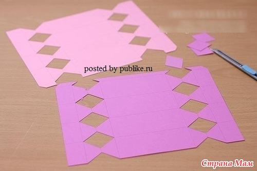 Упаковка для конфет своими руками схема