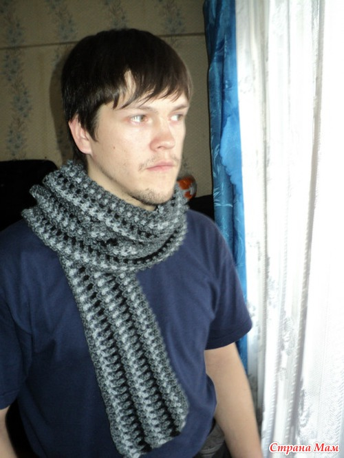 мужской шарф вязание страна мам