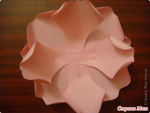 Розы большие из бумаги своими руками