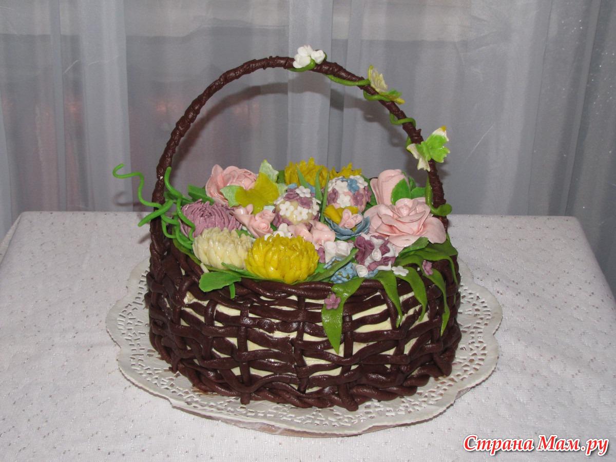 Как сделать корзинку для торта