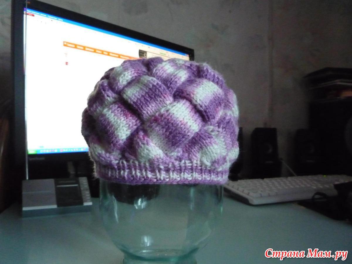 Вязание спицами шапка энтерлак 55