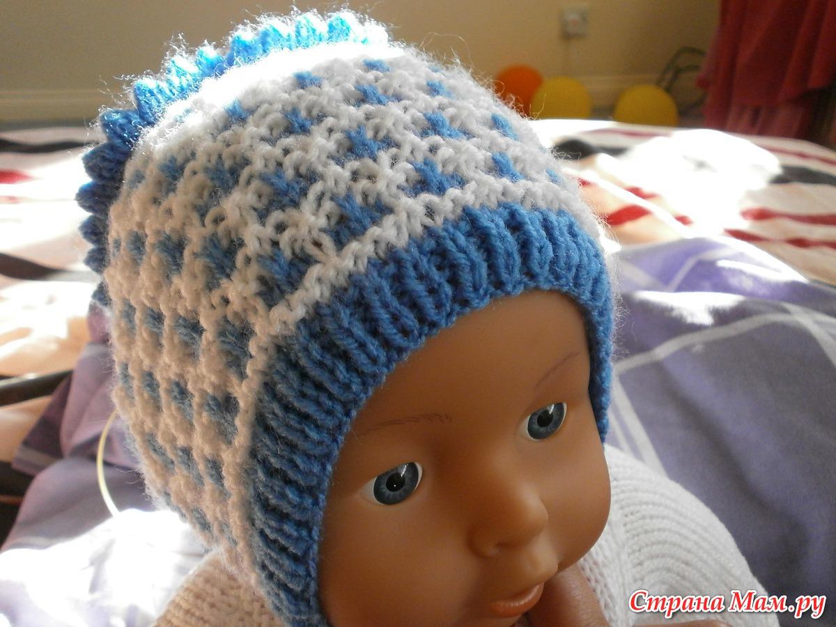 Вязание шапочки на новорожденных
