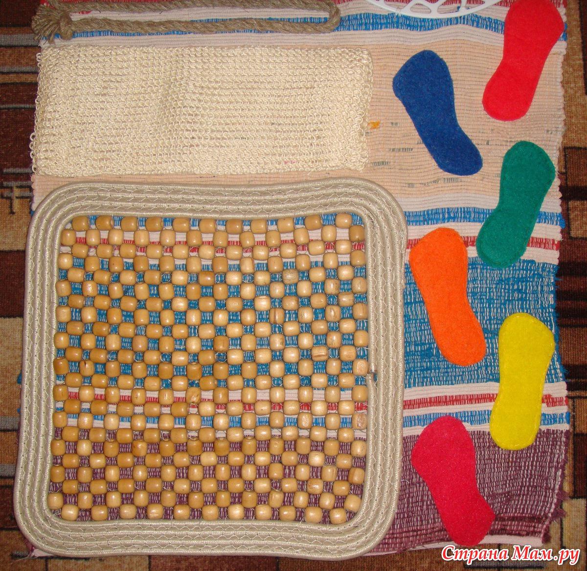 Детский масссажный коврик своими руками