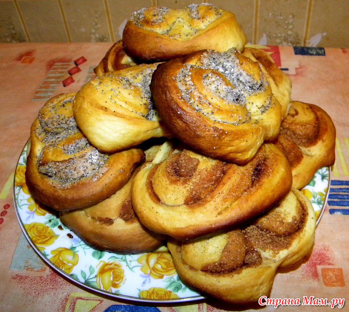 Рецепт сдобных плюшек пошагово с