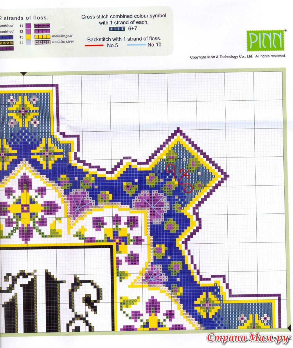 Арабские узоры вышивка крестом 36