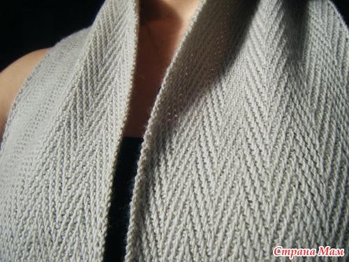 вязание мужского шарфа описание: