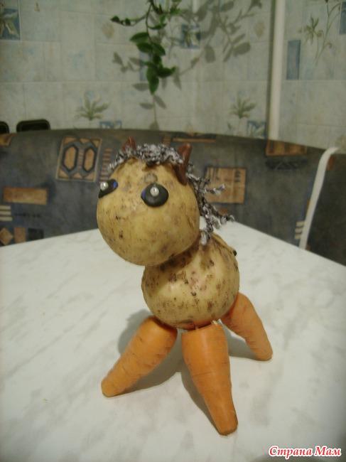 Собачка из овощей своими руками 73