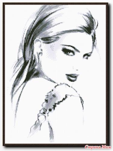 Вышивка женские портреты и схемы