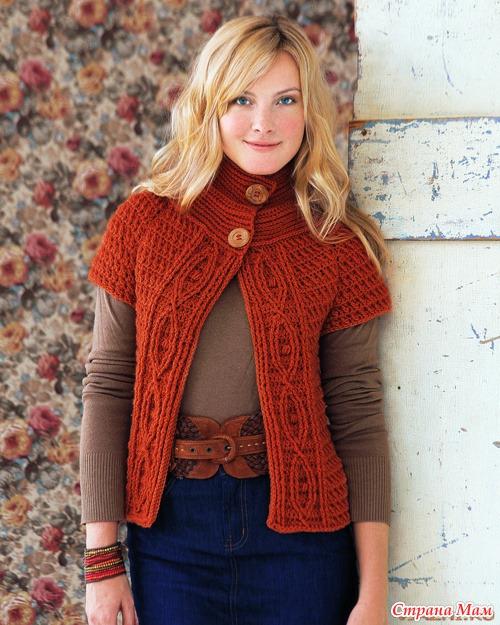 На сайте более 100 бесплатных схем вязания женских жакетов, кардиганов, коф