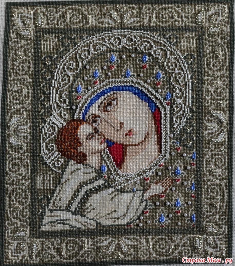 Игоревская икона божией матери вышивка