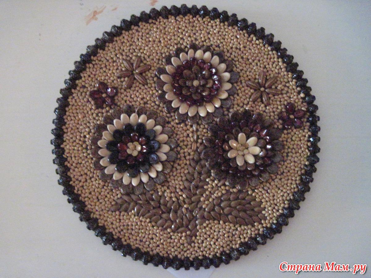 картинки из семян поделки