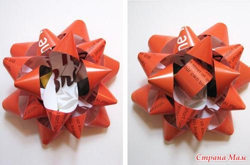 Цветок из упаковочной бумаги своими руками