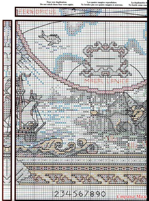Схема Карта мира Рукодельница