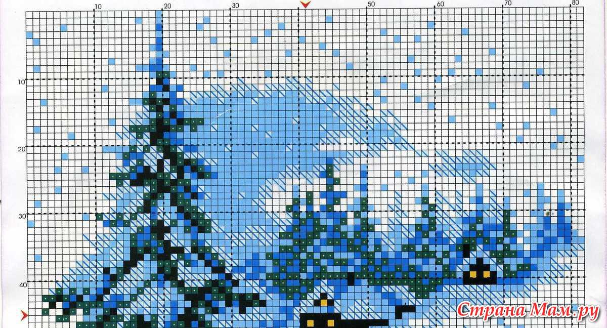 Схемы вышивок на зимнюю 257