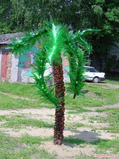 Пластиковая пальма своими руками фото
