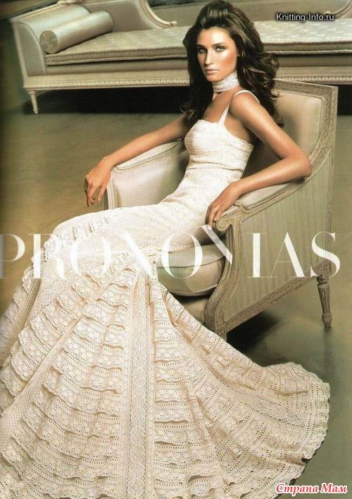Фото красивые платья вязанные крючком