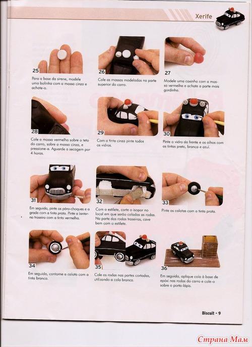 Как сделать фигурки из мастики машинки