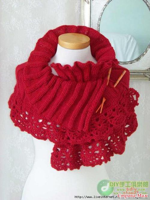 Вязание шарф-накидка на плечи