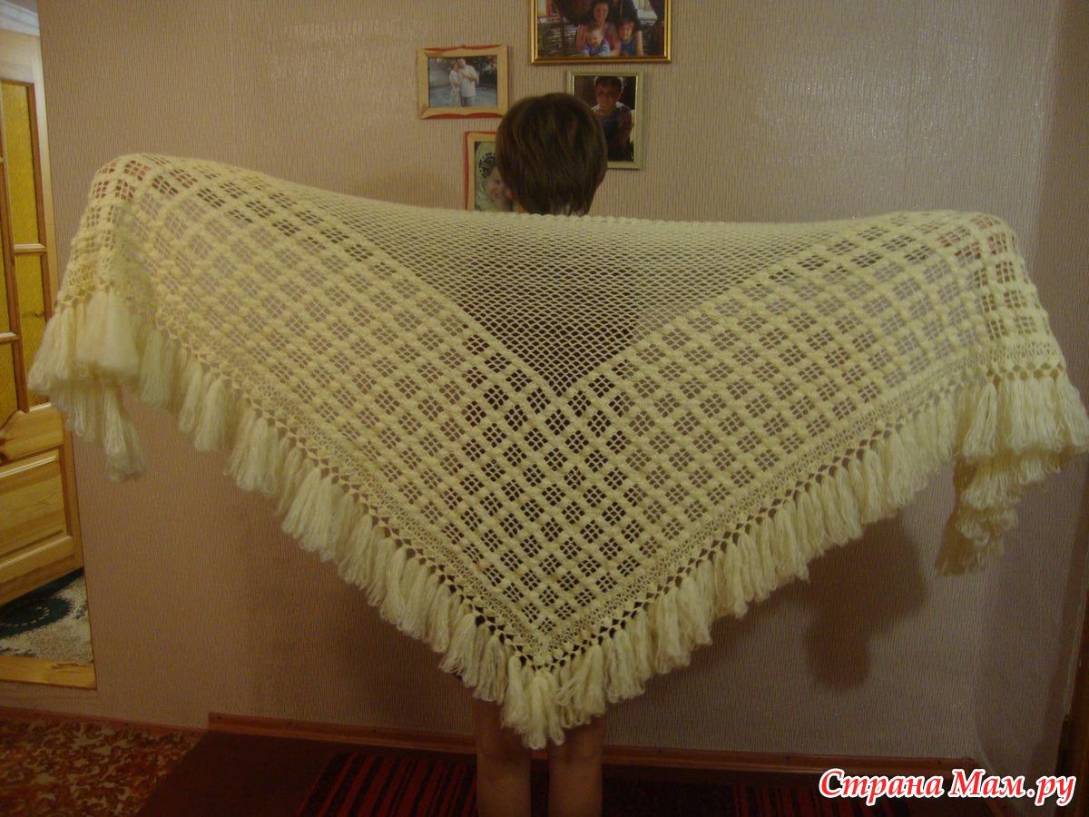 Вязание будет тепло шали