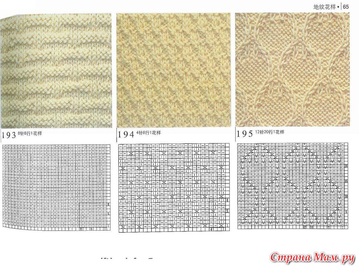 Схемы простых узоров для детских вещей спицами