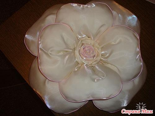 Как сделать подушку-розу мастер класс