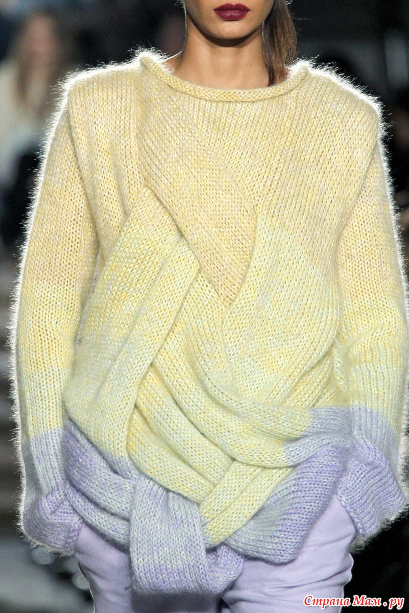 Фото красивых связанных свитеров