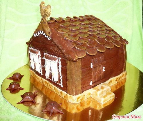 Как сделать дом из бисквита