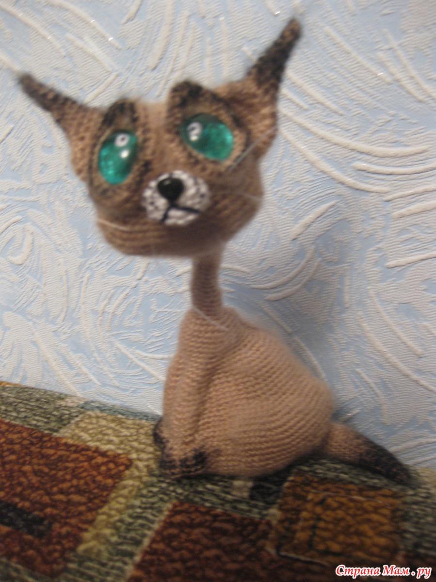 Вязанные сиамские коты 10