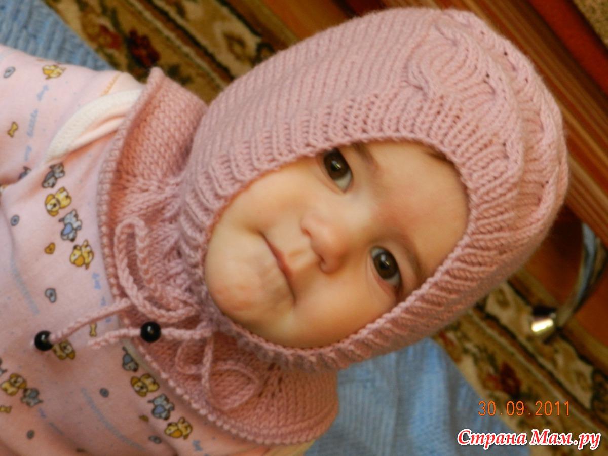 Вязание шлема девочкам